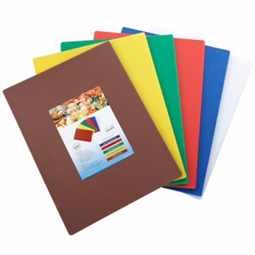 "Winco CBST-1218 Cutting Board Set, 12"" x 18"" x 1/2"" thick, mixed colors"