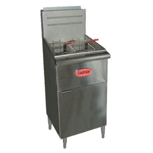 "Entree F-3 Fryer, gas, floor model, 40lb fat capacity, 15-1/2""W"