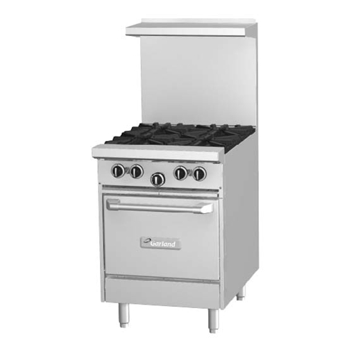 Garland G24-4L Starfire 4 Burner Range With Space Saver Oven