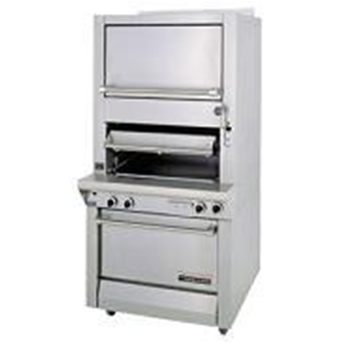 Garland M100XRM Master Series Broiler, deck-type, gas, single infrared deck w/finishing oven