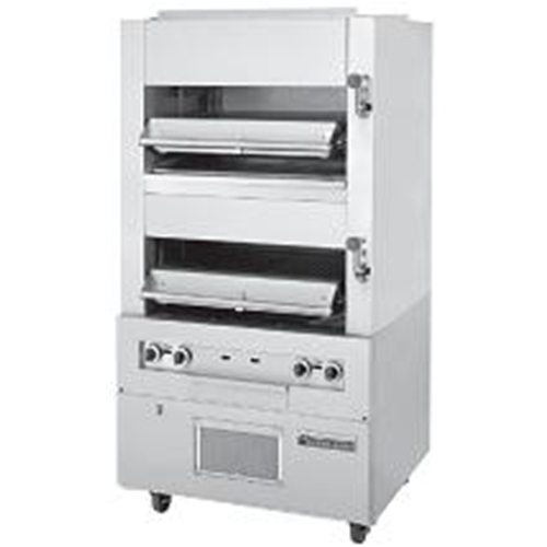 Garland M110XM Master Series Double Broiler, deck-type, gas, two infrared decks w/enclosed base
