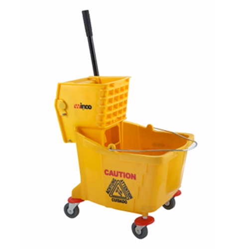 Winco MPB-36 Mop Bucket, with wringer, 36 quart, yellow