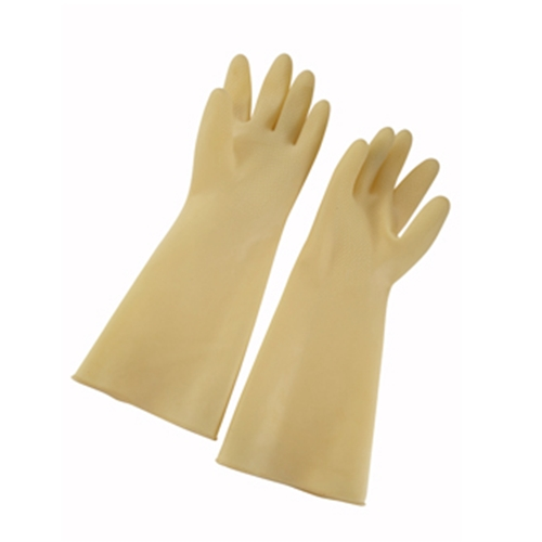 "Winco Latex Gloves, 8-1/2""W x 16""L, natural, ivory"