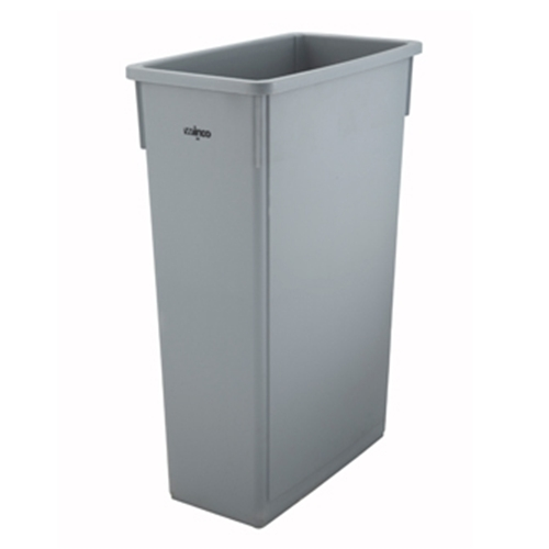 Winco PTC-23SG Slender Trash Can, 23 gallon, (lid not included), grey