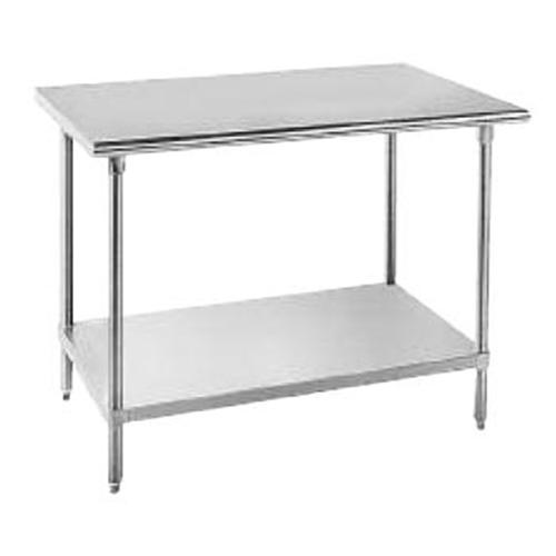 "Advance Tabco SAG-245 Advance Work Table, all Stainless Steel, 24"" wide top, without splash, 60"" long"