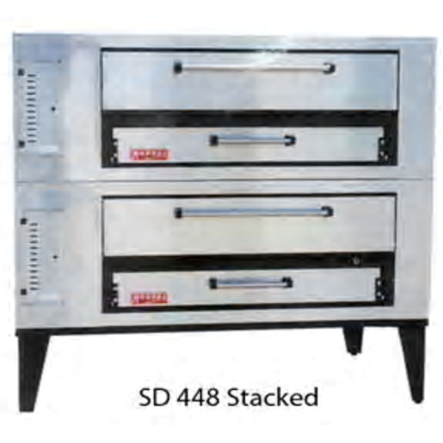 "Marsal and Sons SD-448 STACKED Marsal 65""L Pizza Oven, Deck Type, gas, stacked (2) 8""H x 36"" x 48"" baking chambers"
