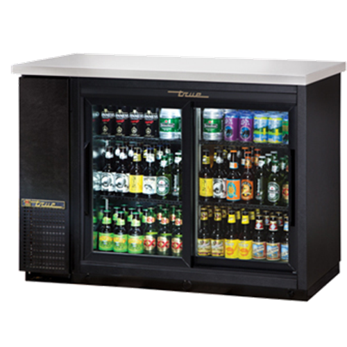 True TBB-24-48G-SD-LD Shallow Depth Back Bar Cooler
