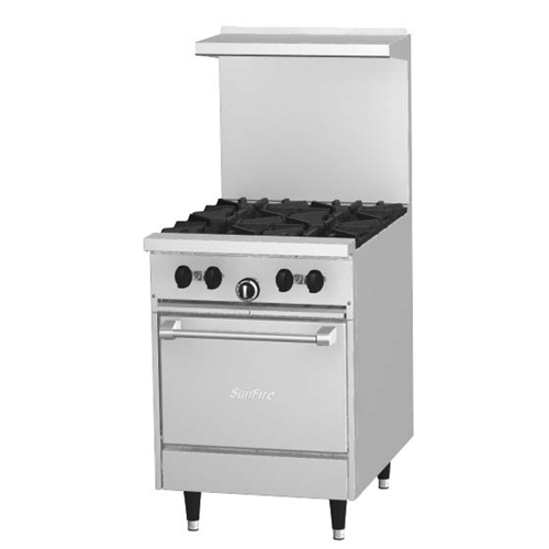 Garland X24-4L Sunfire 4 Burner Range With Space Saver Oven